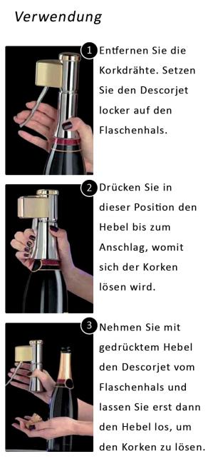 Champagner Flaschenöffner und Sekt Flaschenöffner